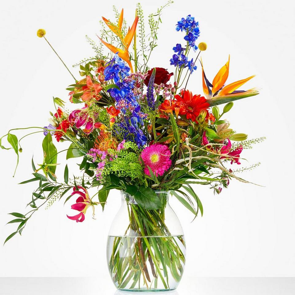 Image 1 of 1 of Bouquet: Color explosion; excl. vase
