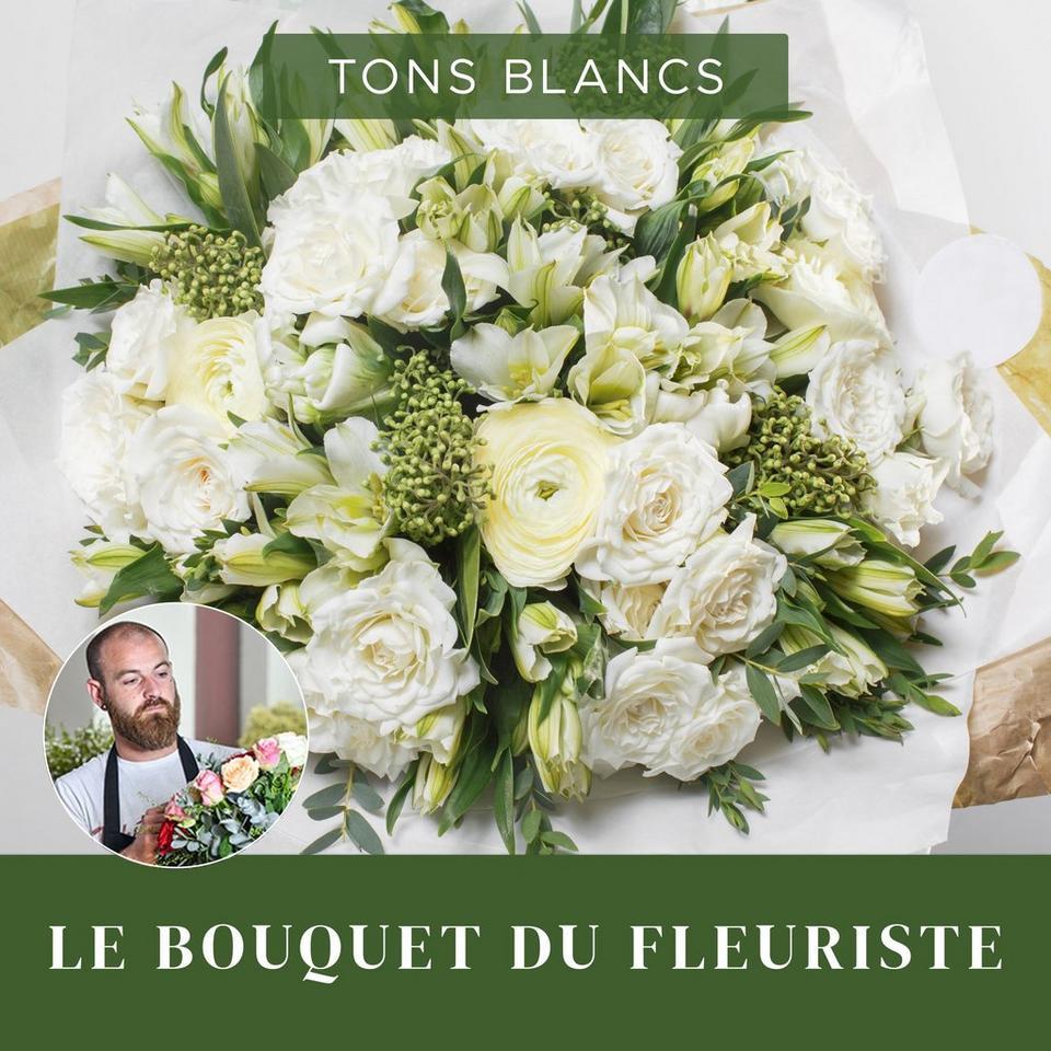 Image 1 of 1 of Bouquet du fleuriste Blanc