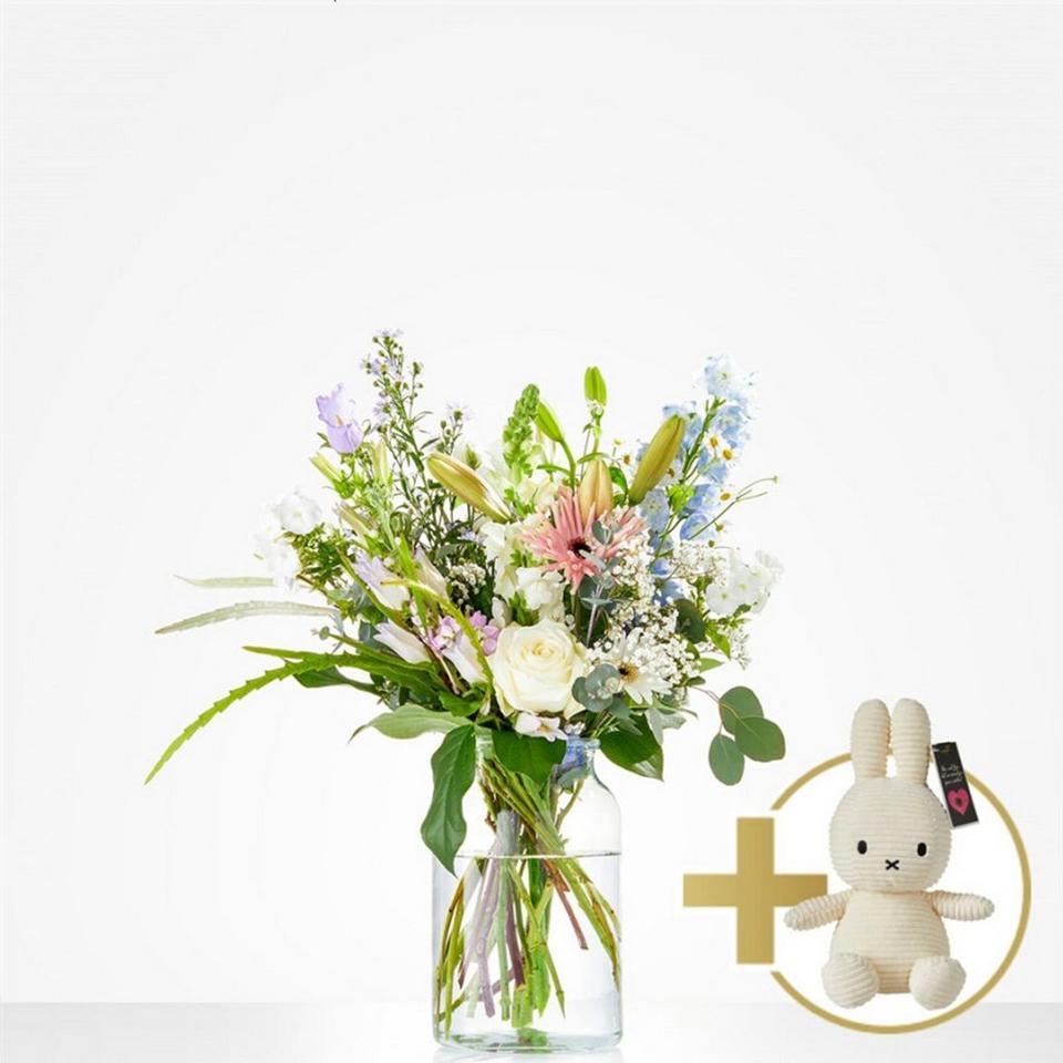 Image 1 of 1 of Combi Bouquet: Loving; including white Niffy for €20,-