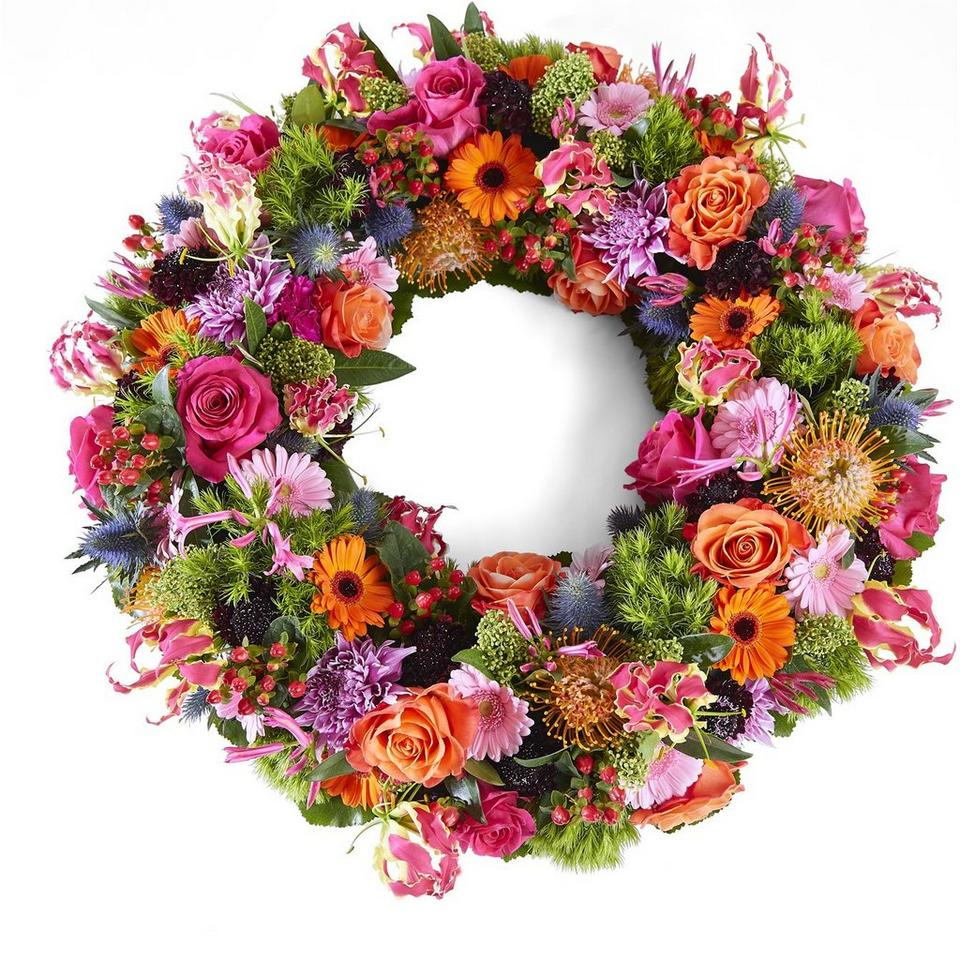 Image 1 of 1 of Funeral: Beautiful moments; Funeral Bouquet Garland