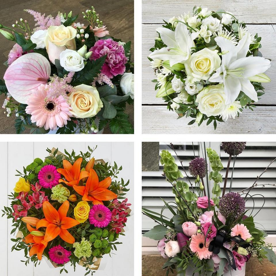 Every arrangement is unique and seasonal