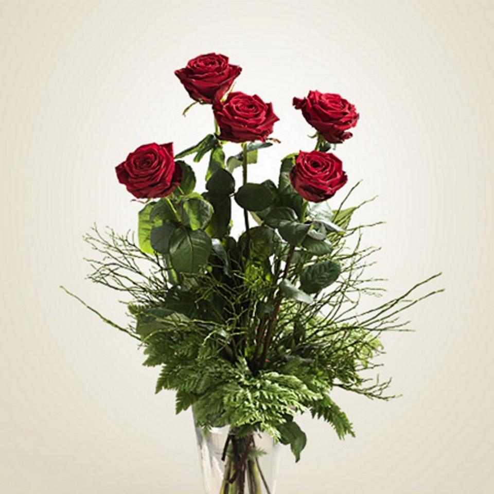 Image 1 of 1 of Cinque rose rosse