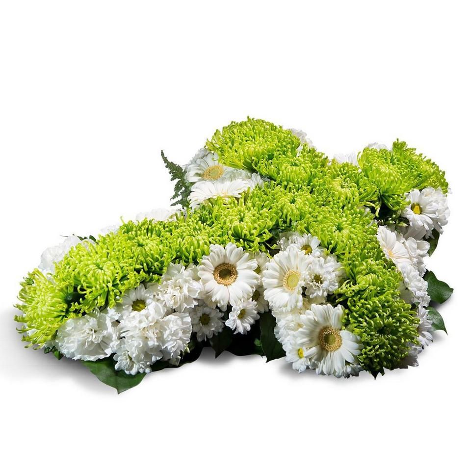 Image 1 of 1 of Small cross in white and green