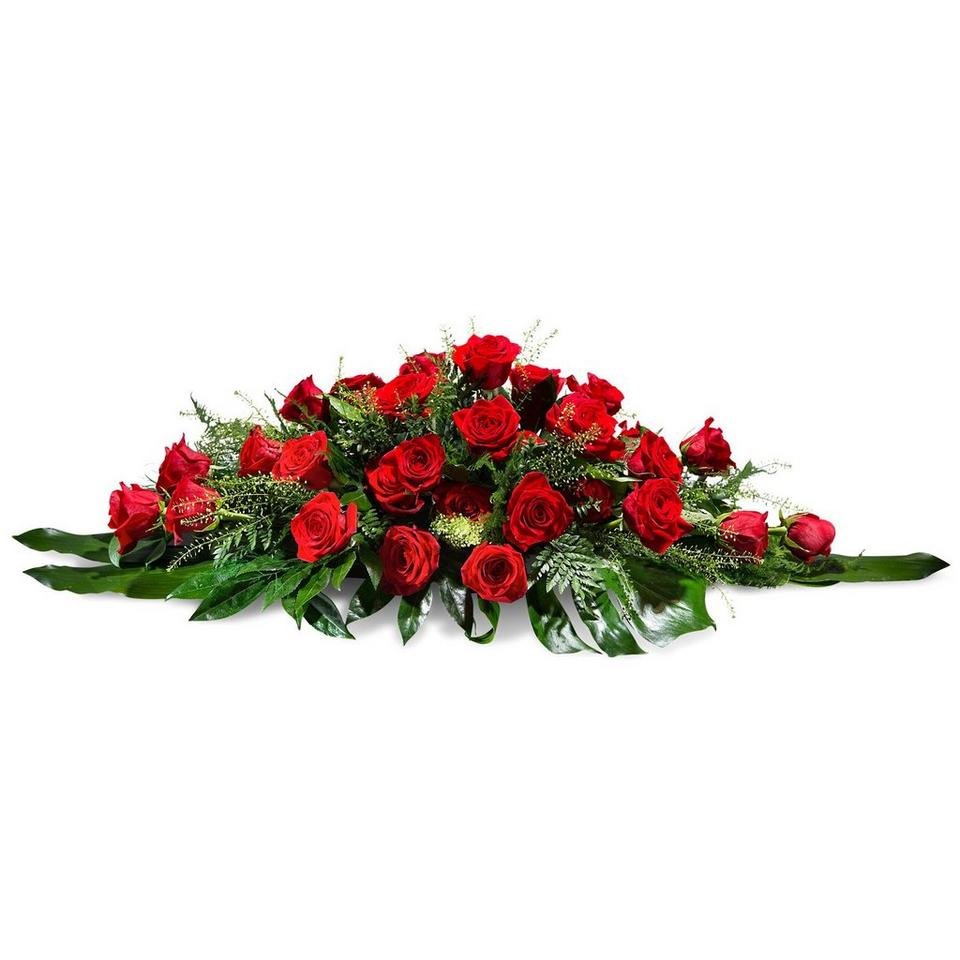 Image 1 of 1 of Cushion of red roses