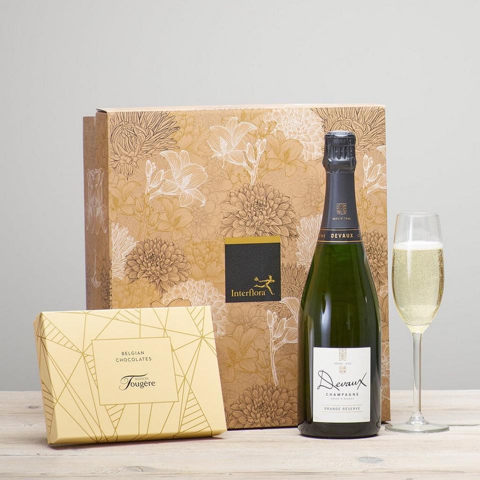 Image 1 of 2 of Champagne & Belgian Chocolates Gift Set
