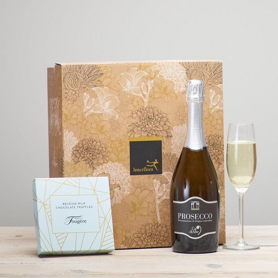 Image 1 of 2 of Prosecco & Chocolate Truffles Gift Set