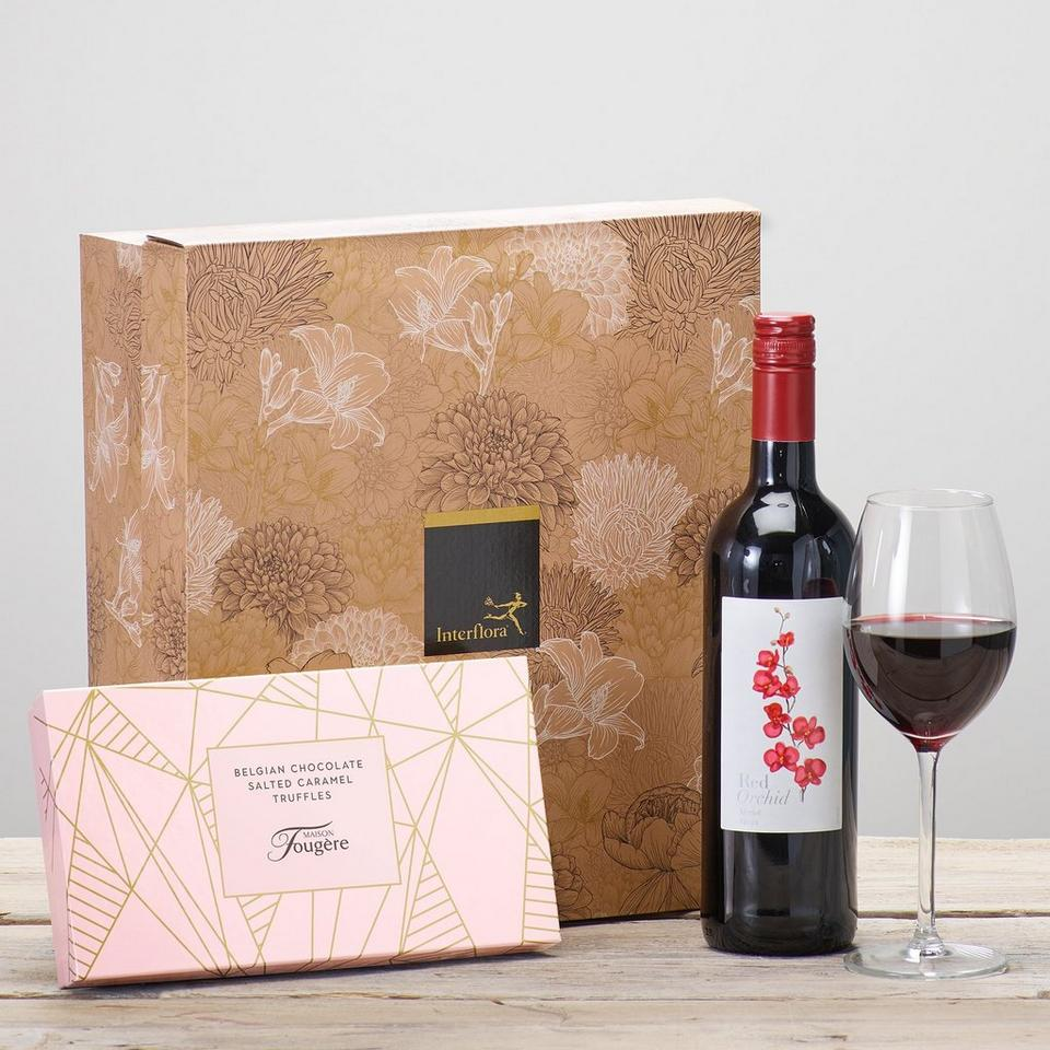 Image 1 of 2 of Red Wine & Salted Caramel Truffles Gift Set