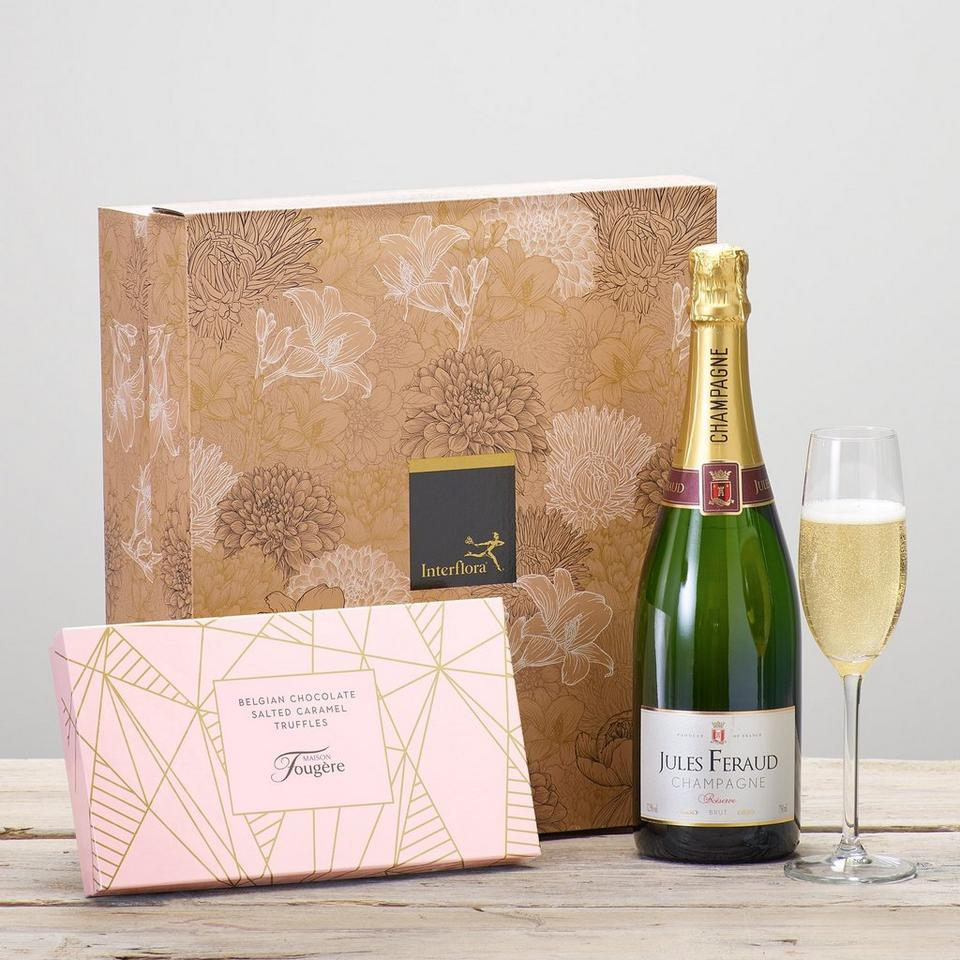 Image 1 of 2 of Champagne & Salted Caramel Truffles Gift Set