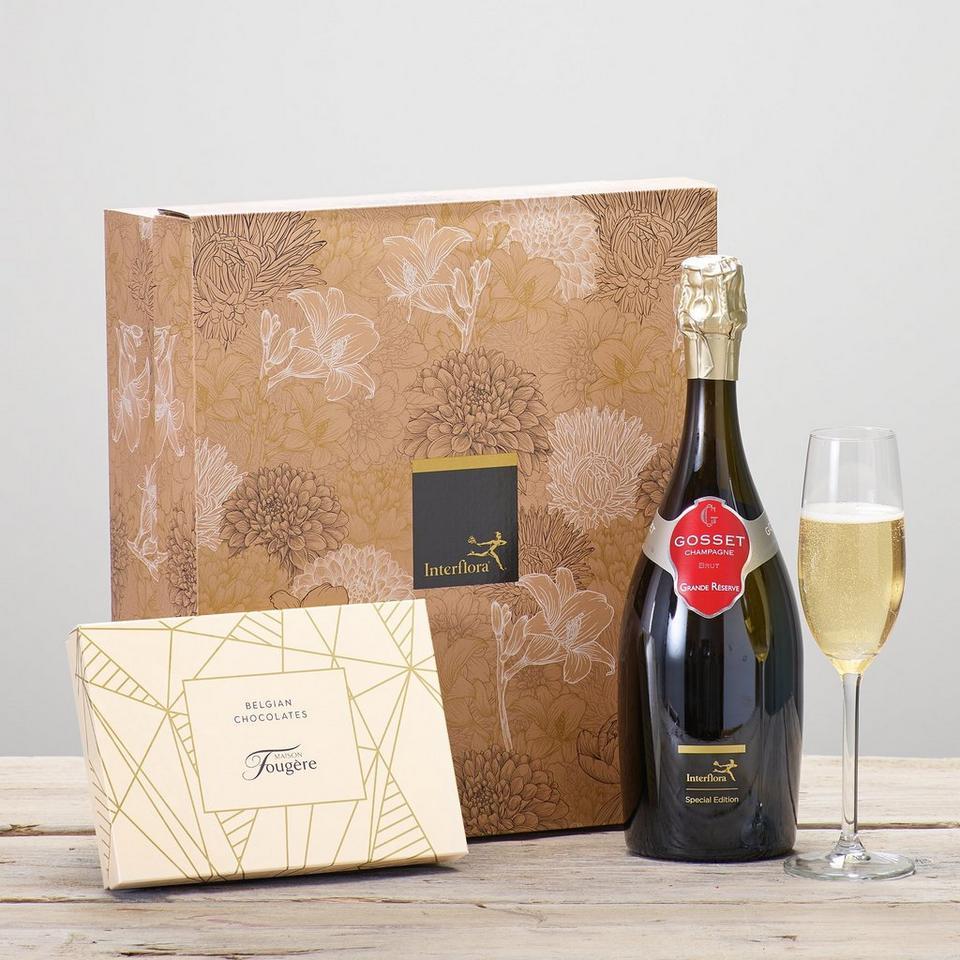 Image 1 of 2 of Gosset Brut Champagne & Chocolates Gift Set
