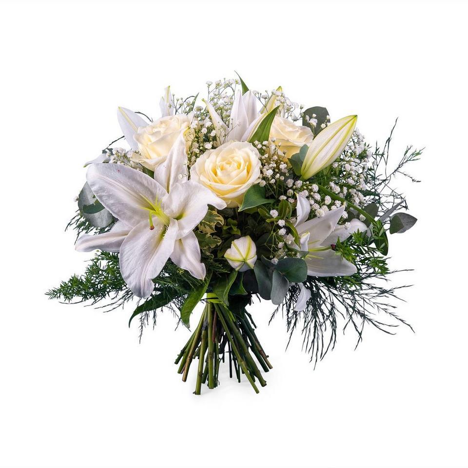 Image 1 of 1 of White Flower Arrangement