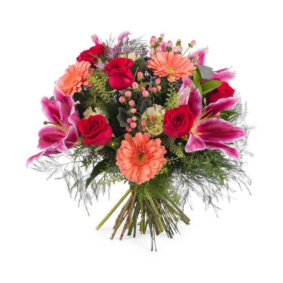 Image 1 of 1 of Bouquet of Roses with Lilies