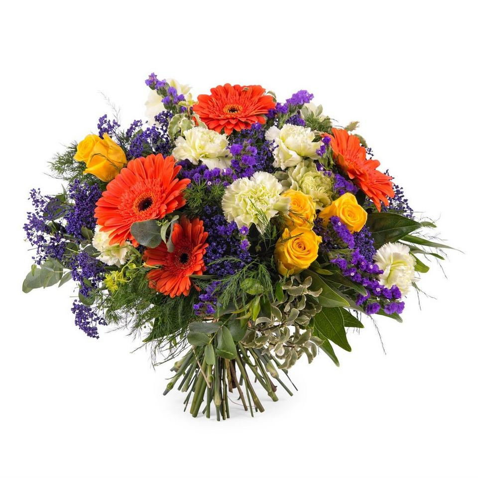 Image 1 of 1 of Arrangement with Gerbera Daisies and Roses