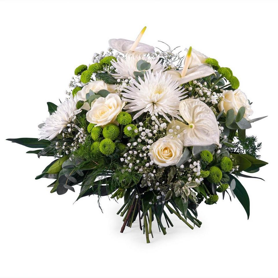 Image 1 of 1 of Spring Bouquet with Anthurium and Roses