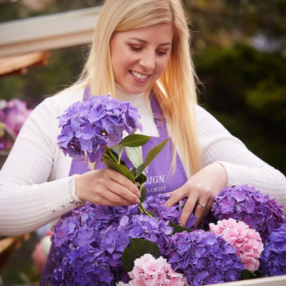 Image 4 of 5 of Summer hand-tied bouquet made with the finest flowers