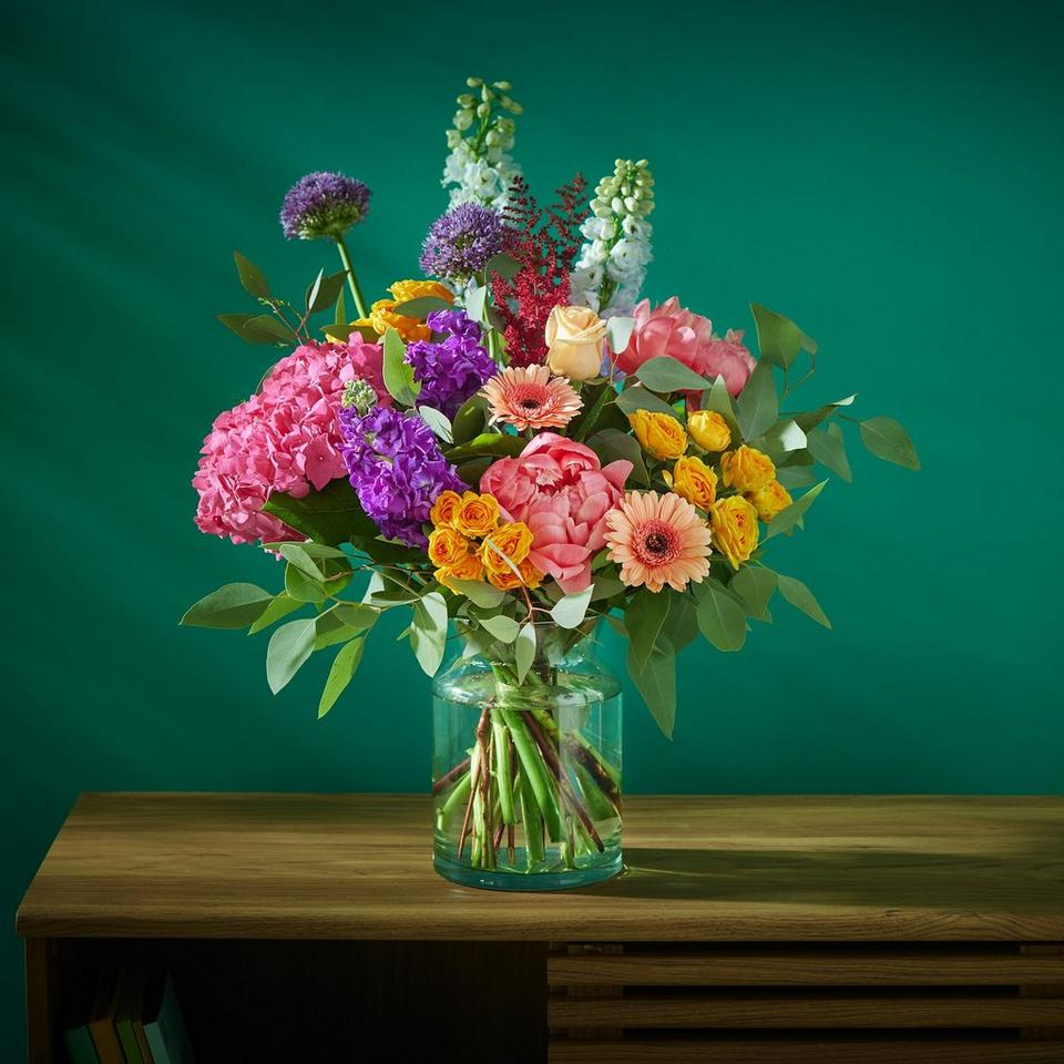 Image 3 of 5 of Summer hand-tied bouquet made with the finest flowers includes rose