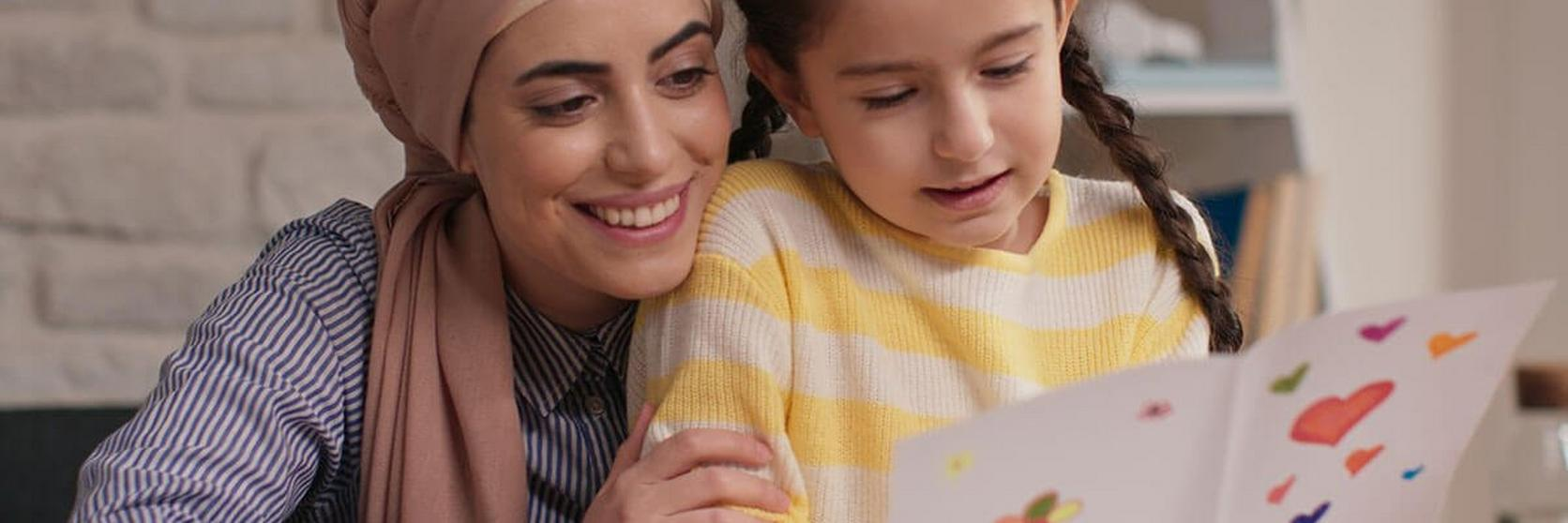 Mother-And-Daughter-Reading-Card