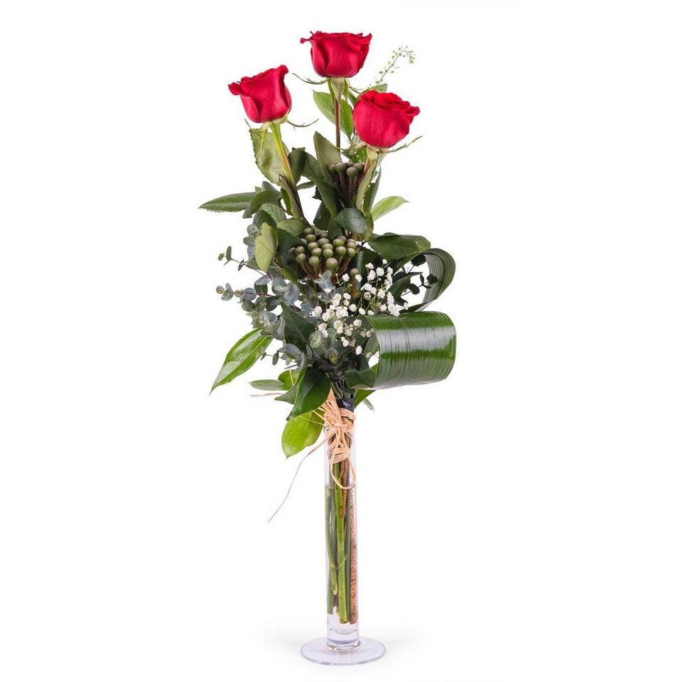 Image 1 of 1 of 3 Long-stemmed Red Roses