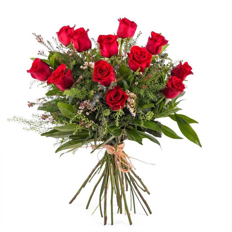 Image 1 of 1 of 12 Long-stemmed Red Roses