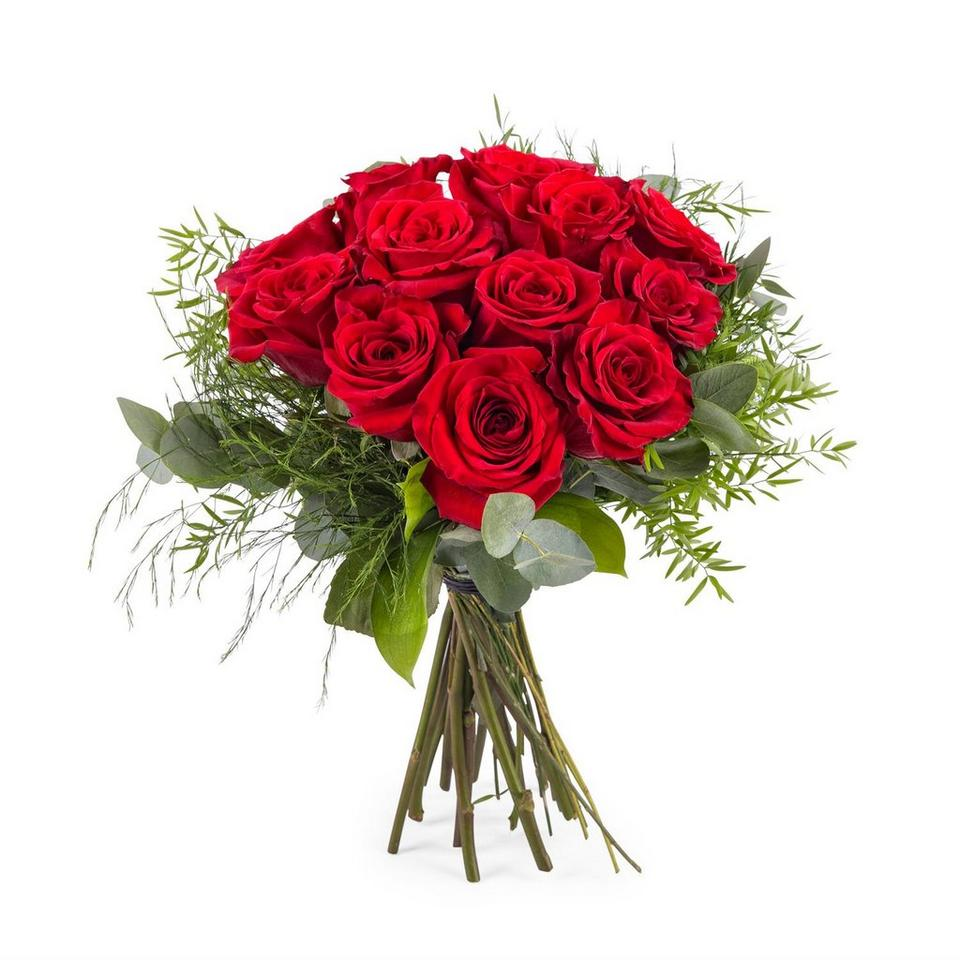Image 1 of 1 of 12 Short-stemmed Red Roses