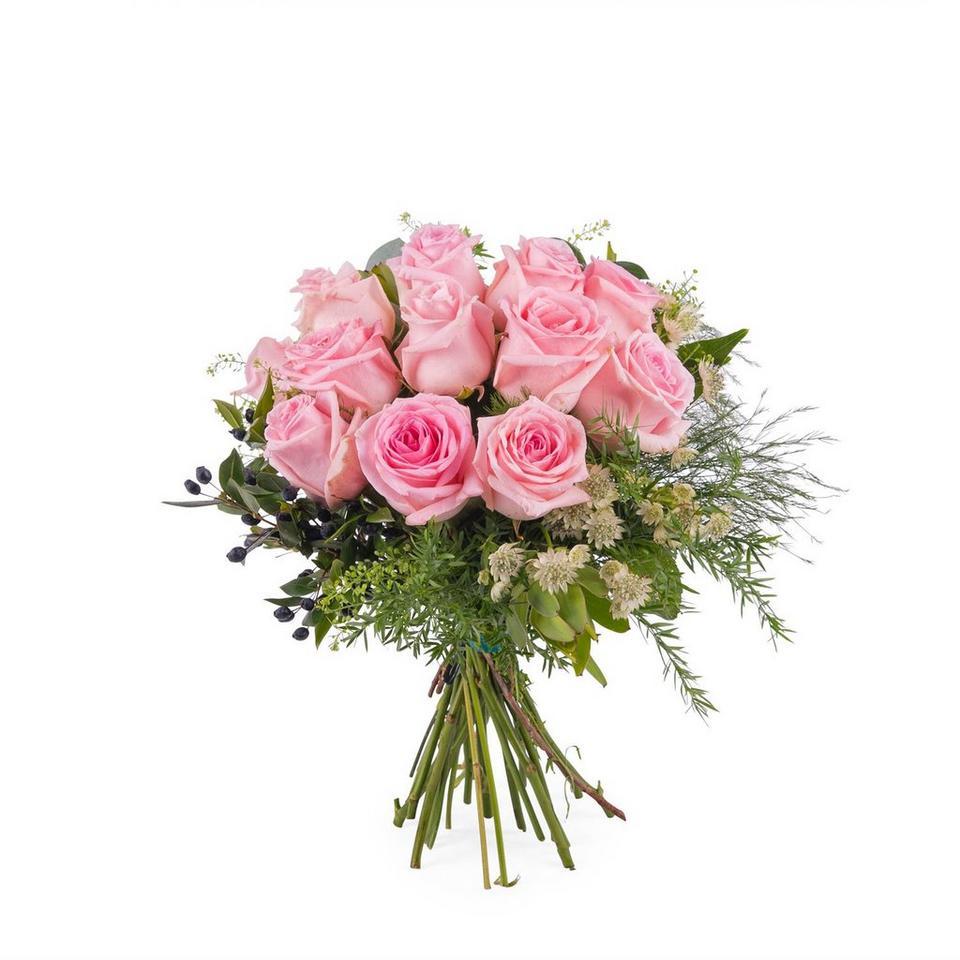 Image 1 of 1 of 12 Short-stemmed Pink Roses
