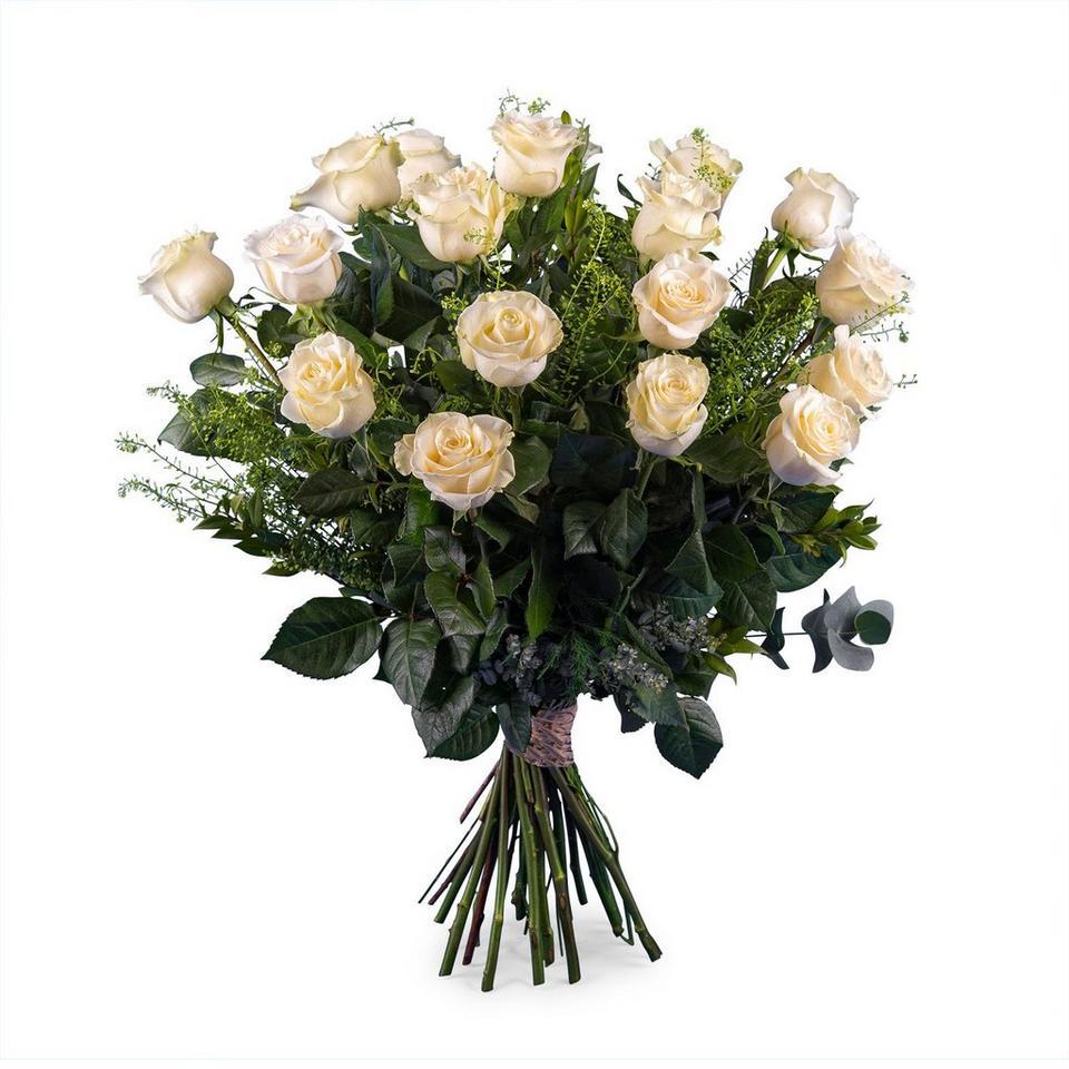 Image 1 of 1 of 18 Long-stemmed White Roses