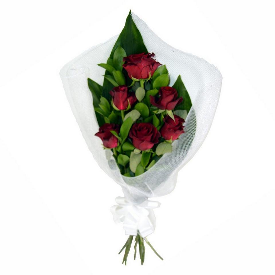 Image 1 of 1 of Red Roses in Wrapping