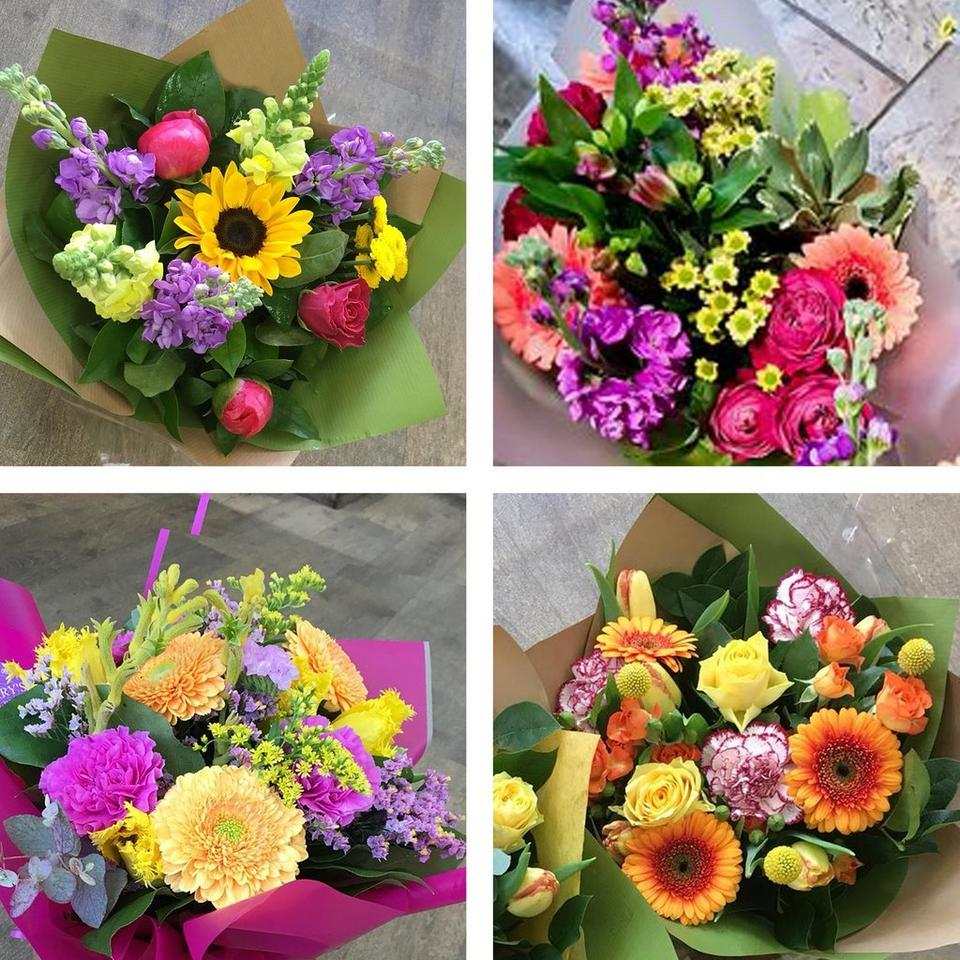 Every bouquet is unique and seasonal