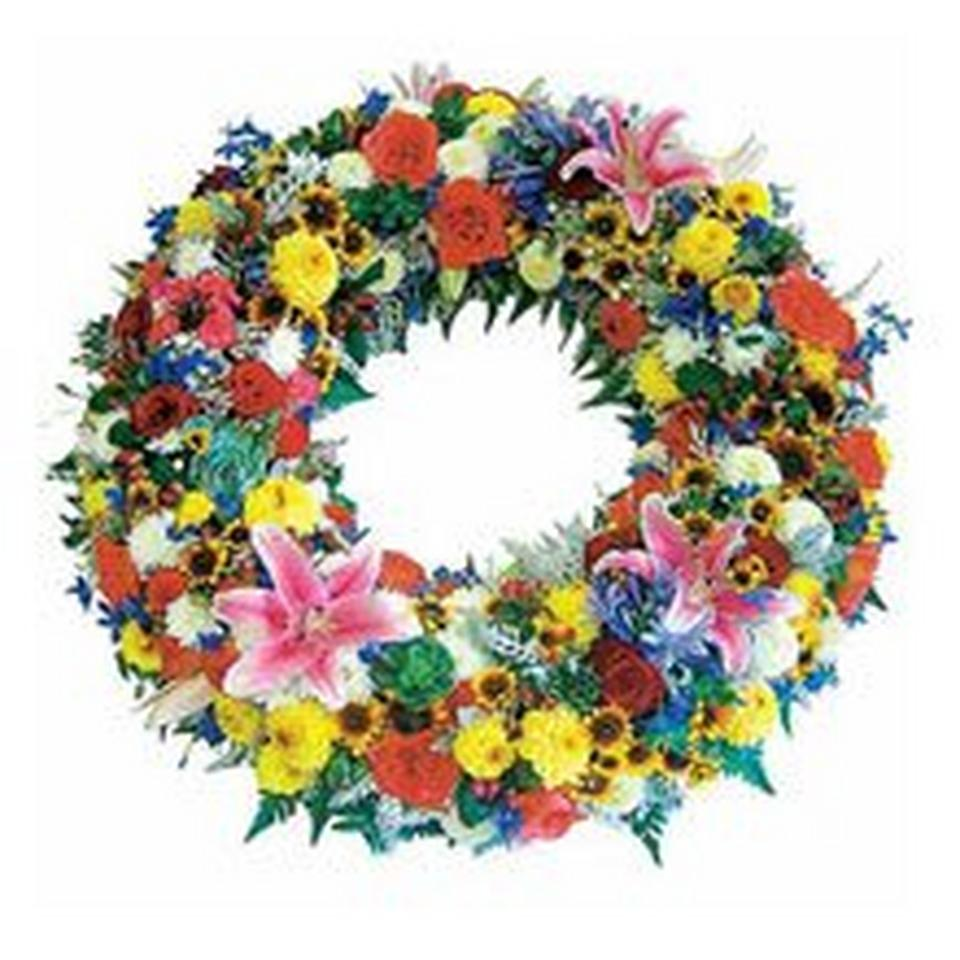 Image 1 of 1 of INTERFLORA FUNERAL WREATH